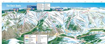 Usa Snow Map by Explore Vail Explore The Mountain Vail Com