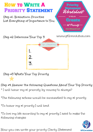 how to write a priority clarity statment gf2 revolution