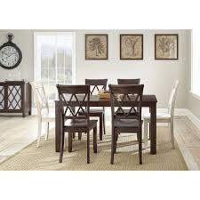 Steve Silver Dining Room Sets Steve Silver Aa500tbv Aida Dining Table In Brown Homeclick Com