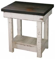 distressed white side table sookie distressed end table white rustic side tables and end