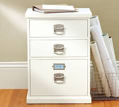 Three Drawer File Cabinet Bedford 3 Drawer File Cabinet Pottery Barn