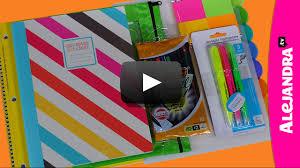 Binder Decorating Ideas Video Back To Supplies Haul 2013 14 Shopping At Walmart