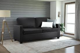 Sofa Beds With Memory Foam Mattress by Signature Sleep Mattresses Casey Faux Leather Full Size Sleeper