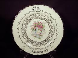 25th wedding anniversary plates 25th wedding anniversary plate dish silver norcrest more 25