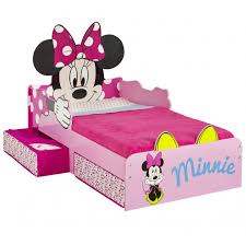 Minnie Mouse Toddler Bed Frame Minnie Mouse Snuggle Time Toddler Bed With Storage Worlds Apart