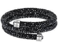bangle bracelet swarovski images Crystaldust double bangle black stainless steel sale jpg