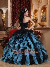and black quinceanera dresses black and sky blue exclusive quinceanera dress sweetheart organza