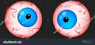 eyeballs scary halloween irritated eyes venis stock vector