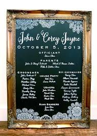 chalkboard program wedding wedding chalkboard program custom painted chalkboard wedding