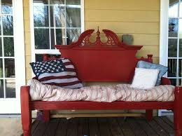 Bed Frames Ta An Outdoor Bench Made From An Bed Frame Hometalk