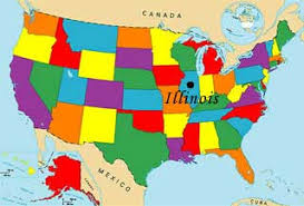 illinois map usa usa geography quizzes map