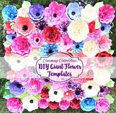flower backdrop butterfly garden set of paper flower templates catching colorlfies