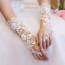 lace wedding gloves ebay