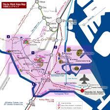 Shinagawa Station Map Ota Ku Ward The Home Of Haneda International Airport Digi Joho