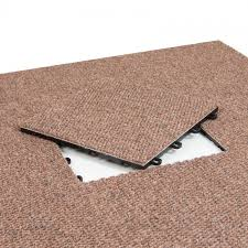 Carpet Tiles In Basement Interlocking Carpet Tiles Premium Brown 20 Pack