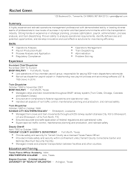 Dispatcher Resume Objective Examples by Enterprise Management Trainee Cover Letter