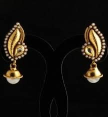 design of earrings moti earrings pearl studded peacock design earrings with gold