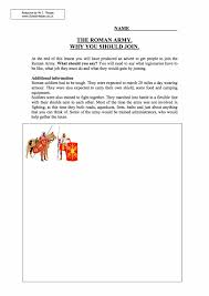 join the roman army year 7 worksheet task