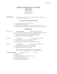 Cv For Data Analyst Chronological Resume Format Example Crazy Chronological Resume 5