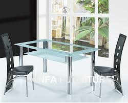 Tempered Glass Dining Table High Quality Double Layer Tempered Glass Dining Table Type