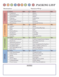 College Packing Checklist Day 28 Packing List Free Printable Road Trips And Organizations