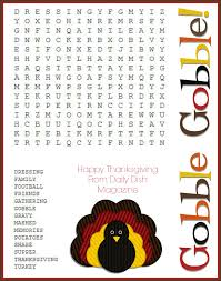 printable word search puzzles for 1st graders gobble gobble word search your modern family