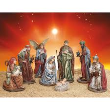 outdoor nativity 9 piece set
