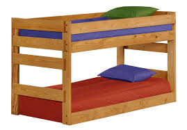 Three Level Bunk Bed Pine Crafter American Made Quality Furniture Bunk Beds