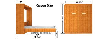 Width Of Queen Bed Frame by Diy Murphy Bed Finished Cabinet Dims Easy Diy Murphy Bed