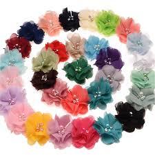 hair corsage 2017 xs 6cm pearl chiffon fabric flowers children s