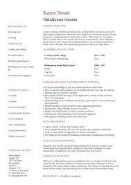 Fashion Resume Examples by Hair Stylist Resume Sample Jennywashere Com