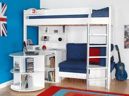 High Sleeper With Futon And Desk Stunning High Sleeper With Desk And Futon High Sleepers With Desk