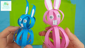 super easy easter paper bunny craft for kids step by step