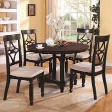 round table marlow rd 3f7103630pg marlow cappuccino finish round dining table 4 chairs