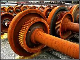 rusty train rusty train wheels and axles rail road yards east side d u2026 flickr