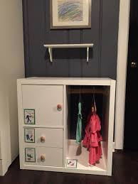 Ikea Hacks Closet Ikea Hack Kallax Into Toddler Closet Remove One Shelf Turn Unit