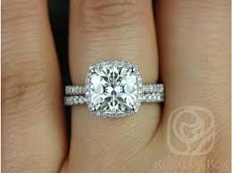 gold cushion cut engagement rings rosados box barra 9mm white gold cushion cut f1 moissanite and