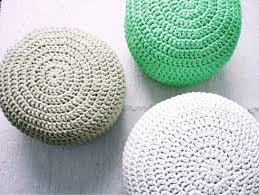 mint green footstool pouf crochet nursery pouf pouffe knit