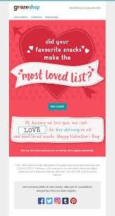 valentines delivery s day email from graze with coupon code for free delivery