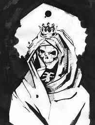 santa muerte sketch drawing mexico death dia de los muertos