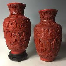 Red Lacquer Vase Chinese Cinnabar Vase Vases Ebay
