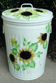 battletter household elegant trash can with pressing ring large