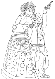 doctor dalek coloring pages getcoloringpages