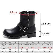 womens motorcycle boots size 9 nikbea black ankle boots womens chunky heel motorcycle boots