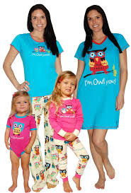 lazy one owl yours pajamas matching family