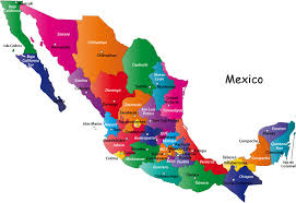 us map states only map of mexico showing states major tourist attractions maps