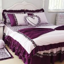 Ruffle Bed Set with Best Romantic Purple Princess Ruffle Bedding Sets Unique Colorful