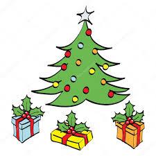 christmas tree cartoon u2014 stock vector cidepix 3889241