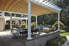 Retractable Awning Pergola Arched Retractable Awnings In Oyster Bay Shadefx Canopies