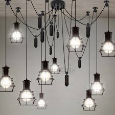 Kitchen Industrial Lighting 10 Light Country Style Industrial Kitchen Lighting Pendants